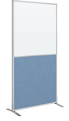 Best-Rite Markerboard/Fabric Standard Modular Panel, 6' x 3', Blue
