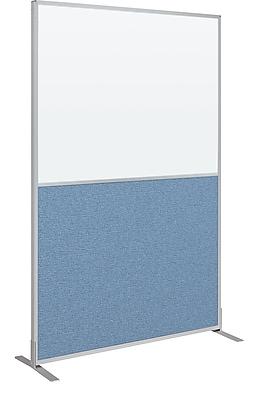 Best-Rite Markerboard/Fabric Standard Modular Panel, 6' x 4', Blue