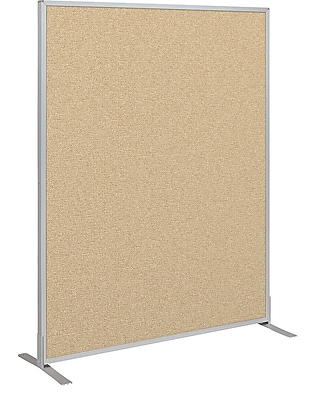 Best-Rite Fabric Standard Modular Panel, 5' x 4', Nutmeg