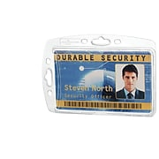 Durable Vertical/Horizontal Badge Holders, Clear, 10/Pack (DBL890519)