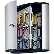 Durable Stylish Brushed Aluminum 54 Key Cabinet System, Gray (1953-23)