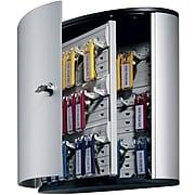 Durable Stylish Brushed Aluminum 36 Key Cabinet System, Gray (1952-23)