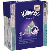 Kleenex® 3-Ply Ultra Soft Facial Tissue, 75 Sheets/Box, 4 Boxes/Pack