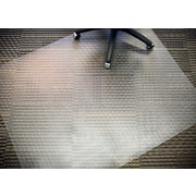 "Mammoth Office Products PVC Chair Mat Antistatic for Standard Pile Carpet Rectangular, 46""W x 60""L (V4660RAS)"