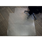 "Mammoth Office Products PVC Chair Mat for Low Pile Carpet Rectangular with Lip, 36""W x 48""L (V3648LLP)"