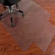 "Mammoth Office Products PVC Chair Mat for Hard Floor Rectangular with Lip, 36""W x 48""L (V3648LHF)"