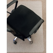 "Mammoth Office Products PVC Chair Mat for Standard Pile Carpet Rectangular with Lip, 36""W x 48""L (V3648LSP)"