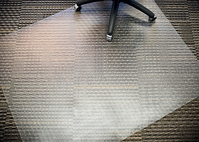 Mammoth Office Products PVC Chair Mat for Medium Pile Carpet Rectangular, 46