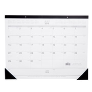 "2018-2019 Staples® 21 3/4"" x 17"" Academic Monthly Desk Pad, 12 Months, July Start (12952-18)"