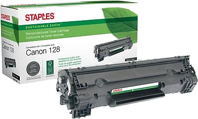 Staples® Remanufactured Laser Toner Cartridge, Canon 128 (3500B001AA), Black