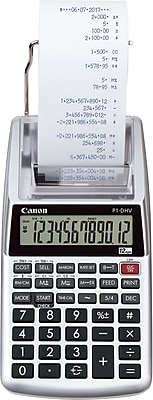 Canon® Hand-Held Calculators, 12-Digit Portable Printer/Display (P1-DHV)