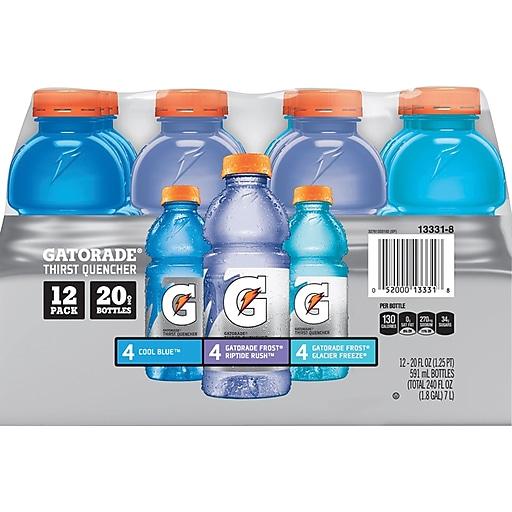 1160882e3e29c Gatorade Variety Pack of 20 oz Bottles, Pack of 12 (QUA13331)