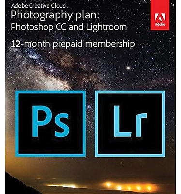 Adobe Creative Cloud Photography Plan for Windows/Mac, 20 GB of Storage (1 User) [12-Month Subscription Download]