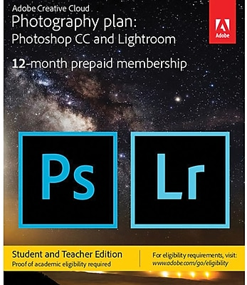 Adobe Creative Cloud Photography Plan Student Teacher Edition for Windows/Mac, 20 GB of Storage (1 User) [Download]