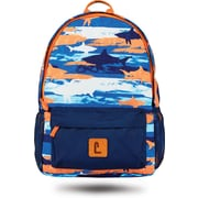 "Staples Paxton 16"" Backpack, Shark Pattern, 4.72""W x 16.14""H x 11.81""D (52395)"