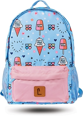 """Staples Paxton 16"""" Backpack, Ice Cream Pattern, 4.72""""W x 16.14""""H x 11.81""""D (52397)"""