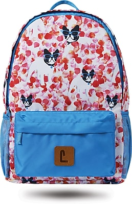 "Staples Paxton 16"" Backpack, French Bull Dogs Pattern, 4.72""W x 16.14""H x 11.81""D (52399)"