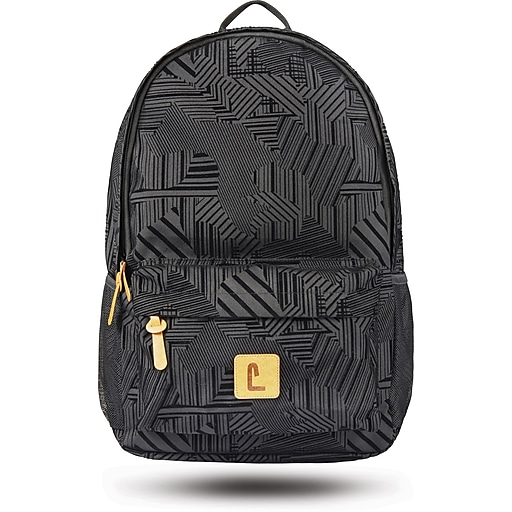 "Staples Sixteen 60 18"" Backpack, Black & Partial Flocking, 5.51""W x 17.71""H x 11.81""D (52406)"