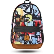 "Staples Dalton 18"" Backpack, Graffiti Pattern, 5.51""W x 17.71""H x 11.81""D (52410)"