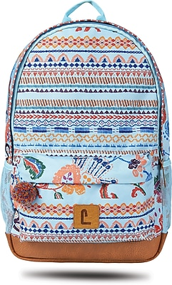 """Staples Dalton 18"""" Backpack, Multicultural Pattern, 5.51""""W x 17.71""""H x 11.81""""D (52411)"""