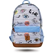 "Staples Dalton 18"" Backpack, Eyes Pattern, 5.51""W x 17.71""H x 11.81""D (52413)"