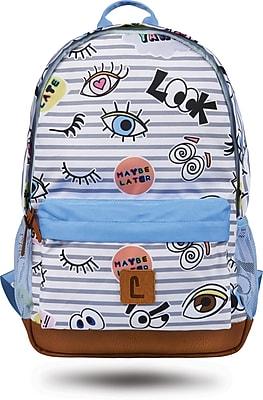 "Staples Dalton 18"" Backpack, Eyes Pattern, 5.51""W x 17.71""H x 11.81""D (52413)"