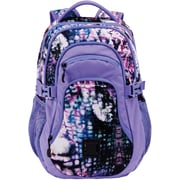 "Staples Pembroke 18"" Backpack, Abstract Purple, 6.88""W x 18.11""H x 12.20""D (52422)"