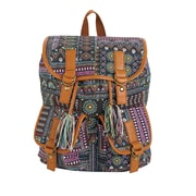 "Staples Windsor Backpack, Print Pattern with Tassel, 6.69""W x 14.96""H x 11.81""D (52427)"