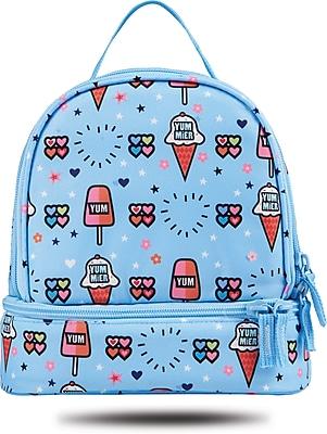 "Staples Kids Lunch Bag, Ice Cream Pattern, 8.66""W x 9.25""H x 5.71""D (52430)"