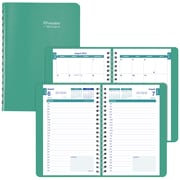 "2018-2019 Brownline® Daily Academic Appointment Book with Monthly Planner, Emerald, 12 Months, 8"" x 5"" (CA201.EME-19)"