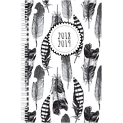 "2018-2019 Brownline® Weekly Academic Planner, Feather Design, 13 Months, 8"" x 5"" (CA101PG.01-19)"