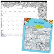 "2018 - 2019 Blueline® 22"" x 17"" DoodlePlan™Monthly Coloring Academic Desk Pad Calendar, 12 Months  (CA2917311-19)"
