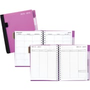 "2018-2019 Staples® 6 7/8"" x 8 3/4"" Medium Academic Weekly/Monthly Planner with Notes, 14 Months, Purple (25498-18)"