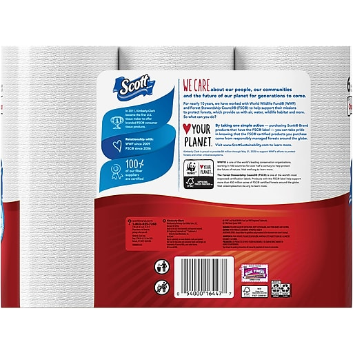 Scott Lint Free Paper Towels: Scott® Mega Roll Paper Towel Rolls, 1-Ply, 6 Rolls/Pack