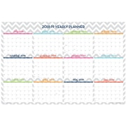 "2018-2019 Blue Sky Academic Dabney Lee Laminated Wall Calendar, Ollie, 36"" x 24"" (102411-19)"