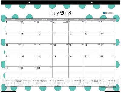 2018 2019 Blue Sky 22x17 Monthly Desk Pad Calendar Penny 105958