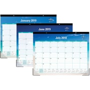 "2018-2019 Blue Sky Academic Desk Pad Calendar, Endless Summer, 22"" x 17"" (BSK-102106-A19)"