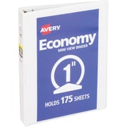"""Avery Mini Economy View Binder for 5-1/2"""" x 8-1/2"""" Pages with 1"""" Round Ring, White (5806)"""