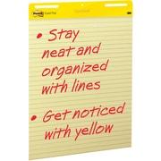 "Post-it® Easel Pad, 25"" x 30"", Faint Blue Ruled, Yellow, 2/PK, (561)"