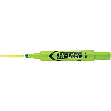 Avery HI-LITER Desk Style Highlighters, Chisel Tip, Fluorescent Green, Dozen