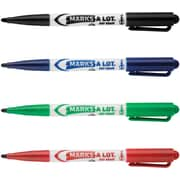 Marks-A-Lot® Pen Style Dry Erase Marker, Fine Point, Assorted, 24/Set