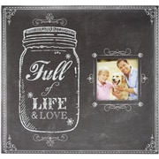 "MBI Full Of Life Mason Jar Post Bound Album W/Window 12""X12""-Full Of Life Mason Jar"