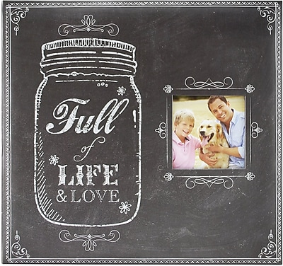 MBI Full Of Life Mason Jar Post Bound Album W/Window 12