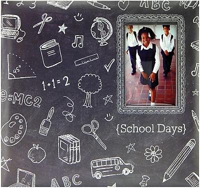 MBI Chalkboard Post Bound Album W/Window 12