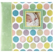 "MBI Baby Circles Post Bound Album W/Window 12""X12""-Circles"