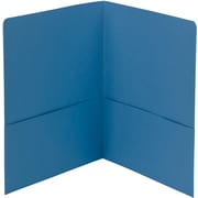 Smead® 2-Pocket Heavyweight Folder, Letter Size, Blue, 25/Box (87852)