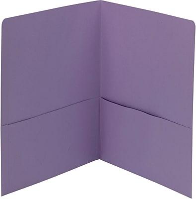 Smead® 2-Pocket Heavyweight Folder, Letter Size, Lavender, 25/Box (87865)