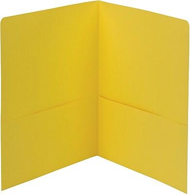Smead Two Pocket Portfolios, Yellow, 25/Bx