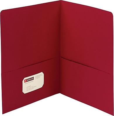 Smead® 2-Pocket Heavyweight Folder, Letter Size, Red, 25/Box (87859)