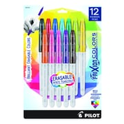 Pilot FriXion Colors Erasable Marker Pen, Bold Point, Assorted Ink, 12-Pack